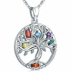 Aniu Silver Necklace for Women Girls Family Tree of Life Sterling Silver Pendan