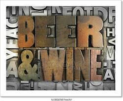 Beer And Wine Art Print Home Decor Wall Art Poster C $46.95