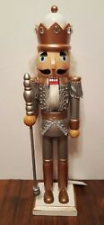 Rose Gold Nutcracker Royal King Guard Wooden Silver Glitter Christmas 15