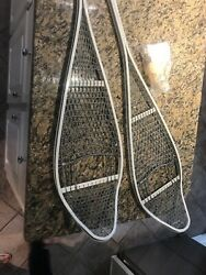 """NEW US Military Surplus Magnesium Snow Shoes w Bindings Carrying Case. 46"""" $50.00"""