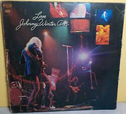 JOHNNY WINTER AND LIVE VINYL RECORD COLOMBIA BL 30475