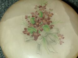 VINTAGE Jewelry Trinket Box Holder Ceramic Floral Design Handcraft in Italy