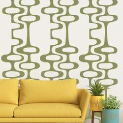 Mid Century Decals Mid Century Modern Decor Circle Chain Decal $45.00