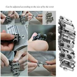 29in1 Multi-Tool Stainless Steel Bracelet for Outdoor Camping Hiking Travel