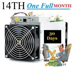 30 Days 1 Month Bitcoin Mining Contract 14THs SHA256 S9i Antminer