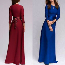 Women Formal Long Evening Party Ball Prom Gown Cocktail Wedding Bridesmaid Dress $18.52