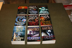 Lot of 9 Anne Rice PBs - Vampire Chronicles & Mayfair Chronicles