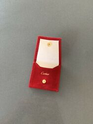 Cartier RED Jewelry Travel Pouch 100% Authentic New 2 34