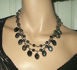 BUTLER & WILSON CARNIVAL GLASS DOUBLE STRAND BEAD NECKLACE