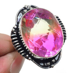 Bi-Color Tourmaline 925 Sterling Silver Jewelry Ring Size-7 8718