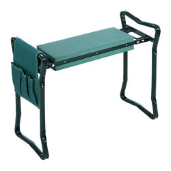 Hot Foldable Kneeler Garden Bench Stool Soft Seat Pad Kneeling w/ Tool Pouch BO $29.75
