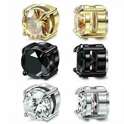 Stainless Steel Magnetic Stud Earrings for Womens Mens  Non-Piercing Clip On $5.95