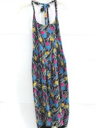 Nicole Miller Womens Size 2 Vintage Union Made Floral Rose Halter Party Dress