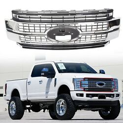 Fits 2017-2019 Super Duty F-250 F-350 F-450 Ford Bumper Chrome Grille Grill $295.00
