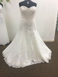 Fit and Flare Wedding Dress Size 22w Ivory Lace