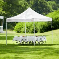 Galaxy Equipment 10' x 10' White Straight Leg Instant Canopy. New! Great Gift!