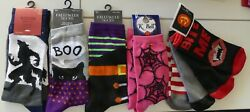 Women#x27;s Novelty Halloween Sock Collection 7 Pair 4 Crew amp; 3 Low Cut New $19.99
