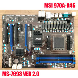 For MSI 970A G46 AM3 AMD 32GB DDR3 SATAIII ATX Motherboard MS 7963 Ver 2.0 $119.00