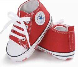 Latest baby Kids Canvas Sneakers Baby Boy Girl Soft Solegood for pre walkers. $9.99