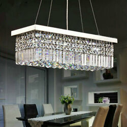 Modern 6080cm Rectangle Chandeliers K9 Crystal Pendant Light Home Ceiling Lamp  $131.39