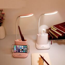 LED Desk Lamp Table Touch Dimming USB Rechargeable Bedside Bedroom Living Room $23.95