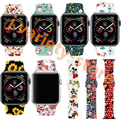 New Christmas Gift Silicone Strap Band for Apple Watch iWatch Series 54 4044mm