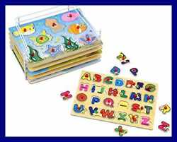Wooden Puzzles For Toddlers Products 6 Colorful Peg W Bonus Puzzle Rack Id Multi
