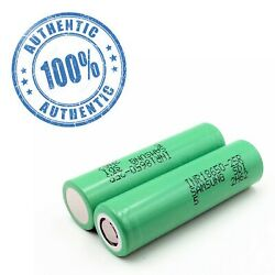 🔥2 Authentic Samsung 25R 18650 2500mAh 35A High Drain Rechargeable Battery🔥