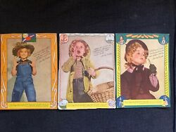 Vintage SHIRLEY TEMPLE 1930's Wheaties Cereal Box Cut-Out Photos 3pcs