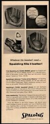 1957 SPALDING Baseball Gloves amp; Cleat Shoes Mitt Leather Sports VINTAGE AD $12.99