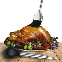 Turkey Chicken Stainless Steel Needle Pump Poultry Meat Baster For Thanksgiving