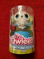 New Sealed Owleez Interactive Flying Pet Owl Toy Helicopter Drone WHITE $99.00