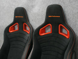 BMW Performance Seats Orange RECARO - the Pair 1M M4 f21 e82 f82 e46