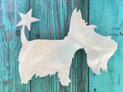 Scottie Dog with Star Christmas Tree Topper or Wreath Decor Scottish Terrier $40.00