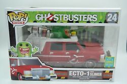 Funko Pop! - Ghostbusters Ecto-1 With Slimer (Red - 2016 SDCC Excl.)    (NIB)