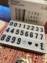 Cinematic LED Lightbox Light Up Letter Box wLetters Numbers Symbols Included $10.00