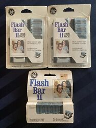 GE Flash Bar II Lot of Pack & Twin Packs For Polaroid SX 70 (50)  Flashes