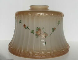 Antique Floral Garland Gold amp; White Frosted Glass Ceiling Floor Lamp Shade $22.99