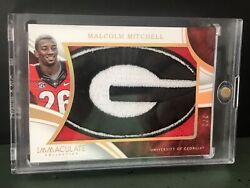 2016 Immaculate Collection Collegiate Jumbo Relic ~ Malcolm Mitchell ~ #'d 22