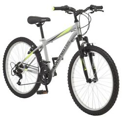 Mountain Bike 18 Speed 24 Inch Rugged Tires Roadmaster On Off Road Bicycle Boys