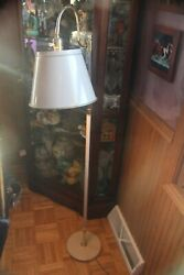 INDUSTIAL RETRO STEAM PUNK FLOOR VINTAGE LAMP 55quot; METAL TAN MOVEABLE WORKS $49.00