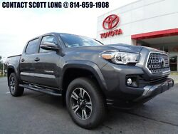 2019 Toyota Tacoma New 2019 Double Cab 4x4 Stick 4WD TRD Gray New 2019 Tacoma Double Cab 4x4 TRD Sport 6 Speed Manual Navigation Magnetic Gray