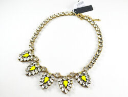 NWT J.Crew Crystal and neon chevron necklace $22.00