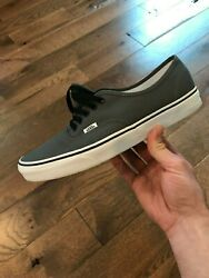 Vans Classic Authentic Low Pro Pewter Black Size 11 Old Skool Skateboard