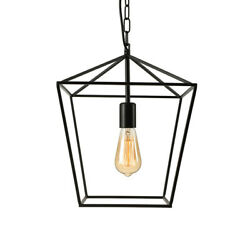 Industrial Style 1 Light Cage Metal Frame Ceiling Light Pendant Fixtures Hallway $54.99