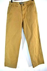 Mountain Khakis Size 32X34 Brown Hiking Casual Canvas Pants + FAST SHIPPING!!!