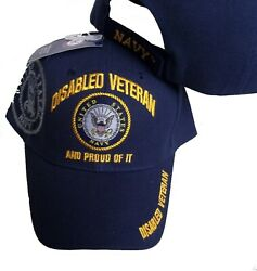 DISABLED NAVY VETERAN PROUD OF IT BASEBALL STYLE EMBROIDERED HAT usa dnv cap 138 $11.49