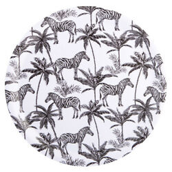 Navigate Madagascar Round Serving Tray Zebra Modern Quirky Serving Tray Party