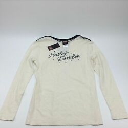 NEW Harley Womens Heavenly Saddle with Shoulder Zippers Off Long Sleeve Small $22.53