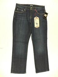 New Lucky Brand Easy Rider Denim Blue Jeans Pants Womens Size 8 - 30 inseam $99